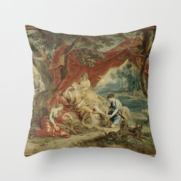 Resting Diana, from the Triumph of the Gods Throw Pillow