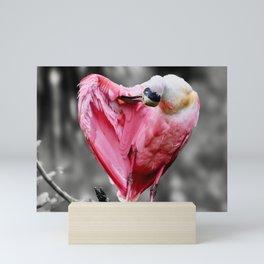 Roseate Spoonbill in Selective Color Mini Art Print
