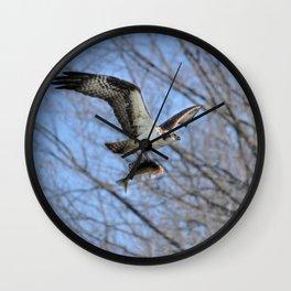 Osprey and Prey - Wildlife Photography Wall Clock