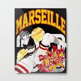 MARCH MADNESS PIN UP Metal Print
