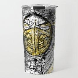 Scribble Scorpion Travel Mug