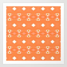 Geo Triangle Orange 3 Art Print