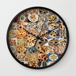 Hamantaschen Montage Wall Clock