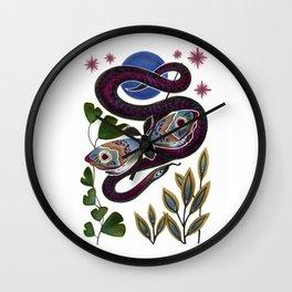 Moth & Snake Wall Clock