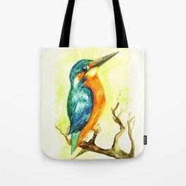 King Fisher Bird Tote Bag