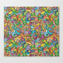 A pinch of everything in a pattern full of carnival colors Canvas Print