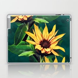 Watercolor sunflowers Laptop & iPad Skin