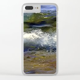 Lake Superior Wave Clear iPhone Case