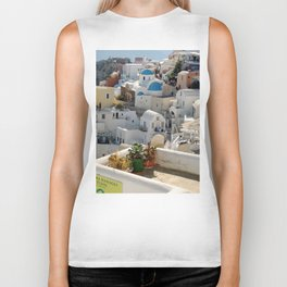 Grece Santorini Oia Village   Ville Oia Biker Tank