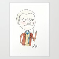 dr who Art Prints featuring Doctor Who - Dr. Who by Sami Kelsh