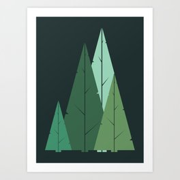 Cypress greens Art Print