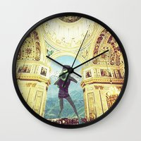 scuba Wall Clocks featuring scuba by Caroline A