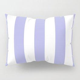 Maximum blue purple - solid color - white vertical lines pattern Pillow Sham