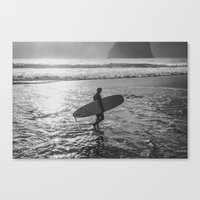 surfer Canvas Prints featuring Surfer by AngelaRiggs