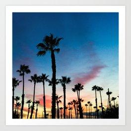 Redondo Beach California King Harbor Sunset Art Print