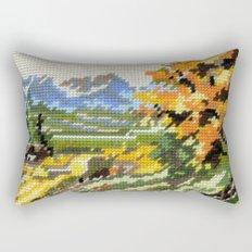 Found Tapestry Landscape Rectangular Pillow