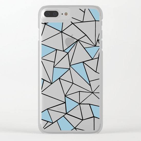 Ab Out Blue Blocks Clear iPhone Case
