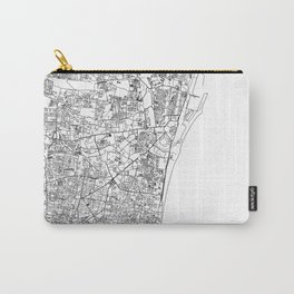 Chennai City Map India White and Black Carry-All Pouch
