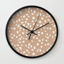 PEACH PEBBLES Wall Clock