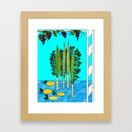 A Sukkot, Lulav and Estrog, Celebration Framed Art Print