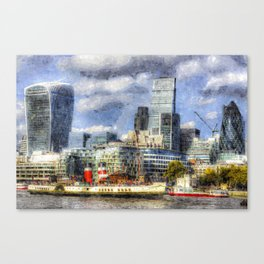 London Art Canvas Print
