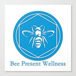 Bee Present Wellness Logo Canvas Print