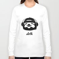 sloth Long Sleeve T-shirts featuring Sloth by Max Las