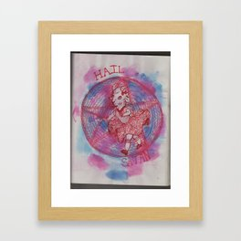 Satanic Goat Girl Framed Art Print