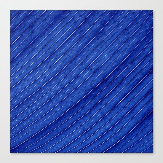blue leaf II Canvas Print