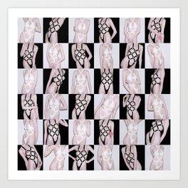 Black vs. White Art Print