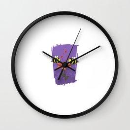 Bee Mine Valentine Wall Clock