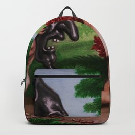 """In Fear of Fear"" Italian renaissance portrait painting Backpack"