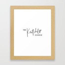 The Kutcher Condo Pillow Framed Art Print