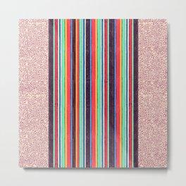 Stripes and pattern in primaries Metal Print