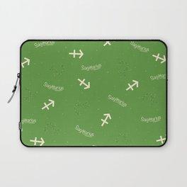Sagittarius Pattern - Green Laptop Sleeve