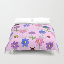 Pink Nature Duvet Cover