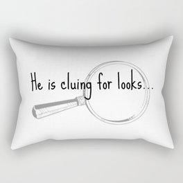 He's cluing for looks... Drunk Sherlock Rectangular Pillow