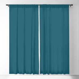 Gorgeous Deep Tranquil Dark Sea Blue Green Solid Color Pairs To Sherwin Williams Connor's Lakefront SW 9060 Blackout Curtain