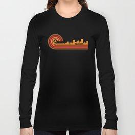 Retro Rochester New York Skyline Long Sleeve T-shirt