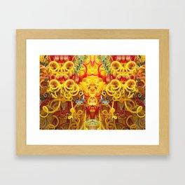 Oriental Style Swirls and Curls Framed Art Print