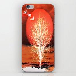 Sun in red iPhone Skin