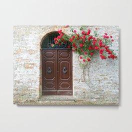 Italian Red Roses Metal Print