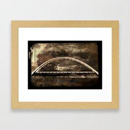 Arched Bridge Over Roosevelt Lake Framed Art Print