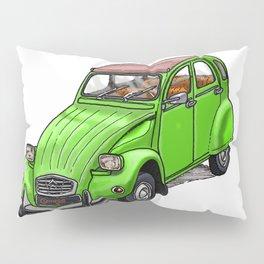 Green 2CV Pillow Sham