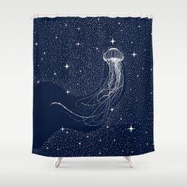 starry jellyfish Shower Curtain