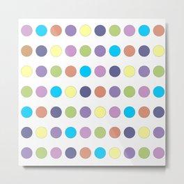 Pastel Polka Dots Metal Print