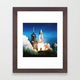 Space Shuttle Launch Framed Art Print