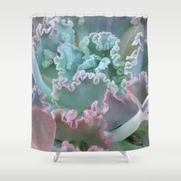 Succulent in the Sand Shower Curtain