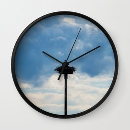 A Stork among the Clouds Wall Clock
