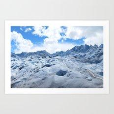 Glacier Hike Art Print